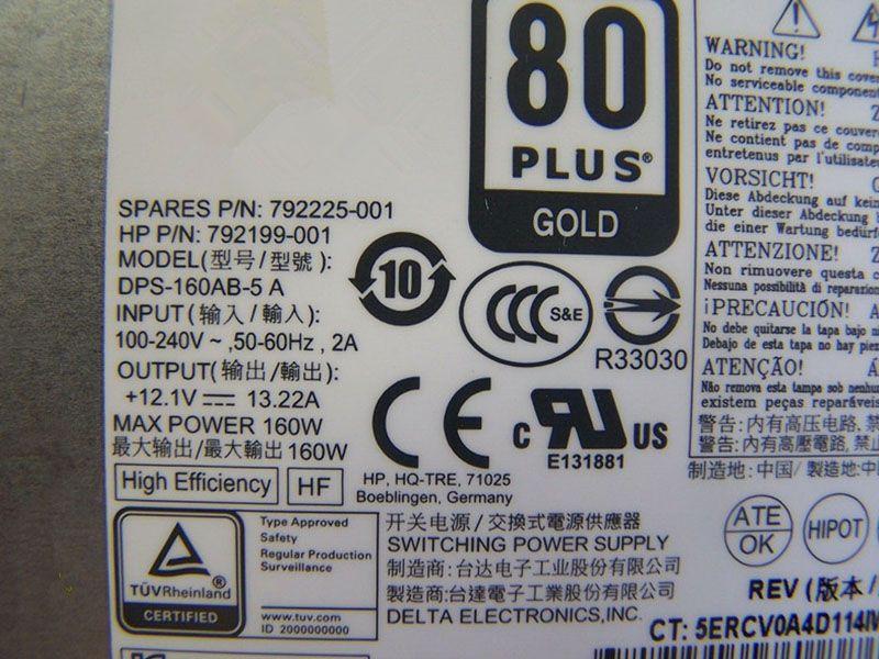 HP 792225-001 PA-1161-2 905301-001 792199-001 DPS-160AB-5A