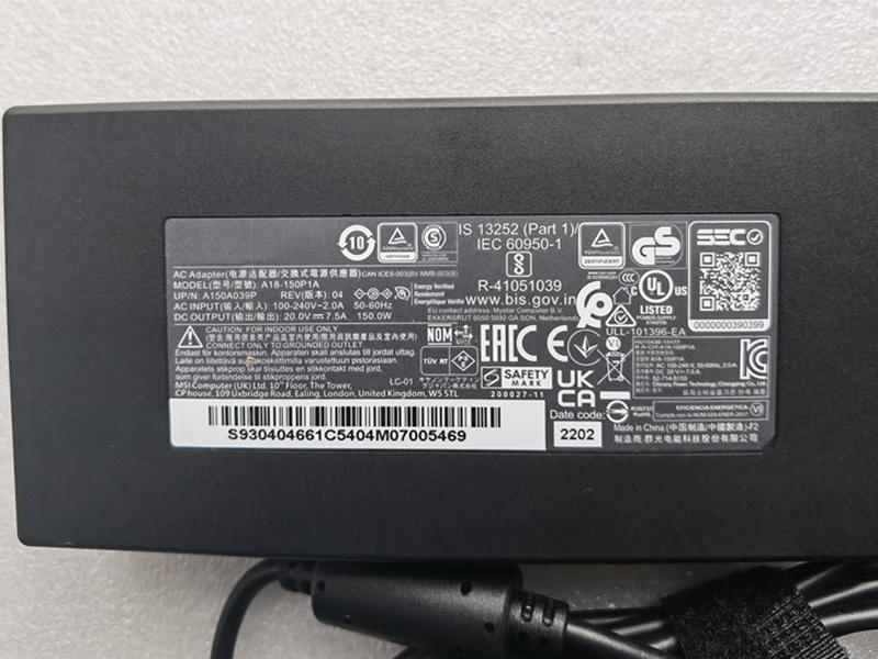 Chargeur ordinateur portable ADP-150CH_B