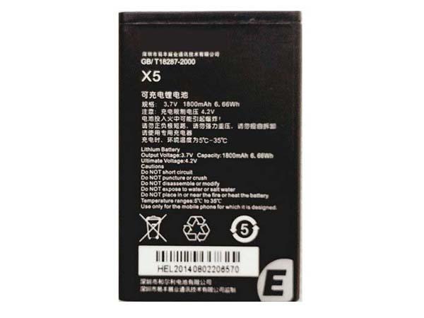 Batterie interne smartphone X5
