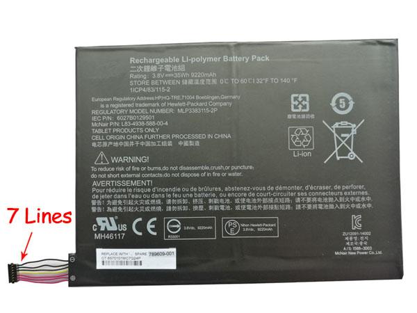 Batterie interne tablette 789609-001