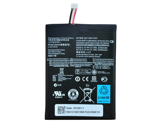 Batterie interne tablette L12T1P3