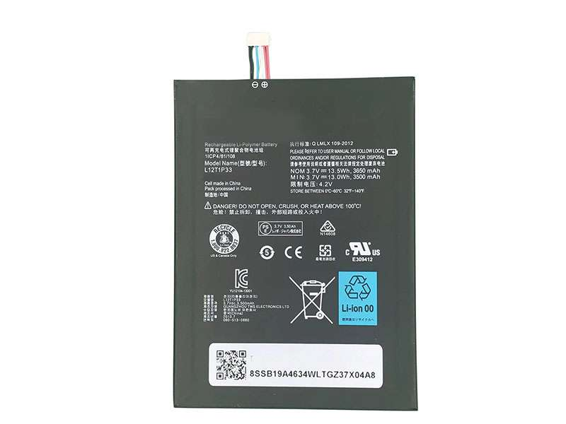 Batterie interne tablette L12T1P33