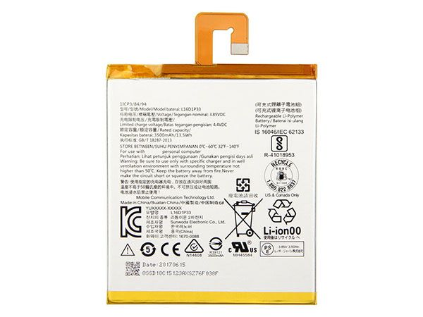 Batterie interne tablette L16D1P33