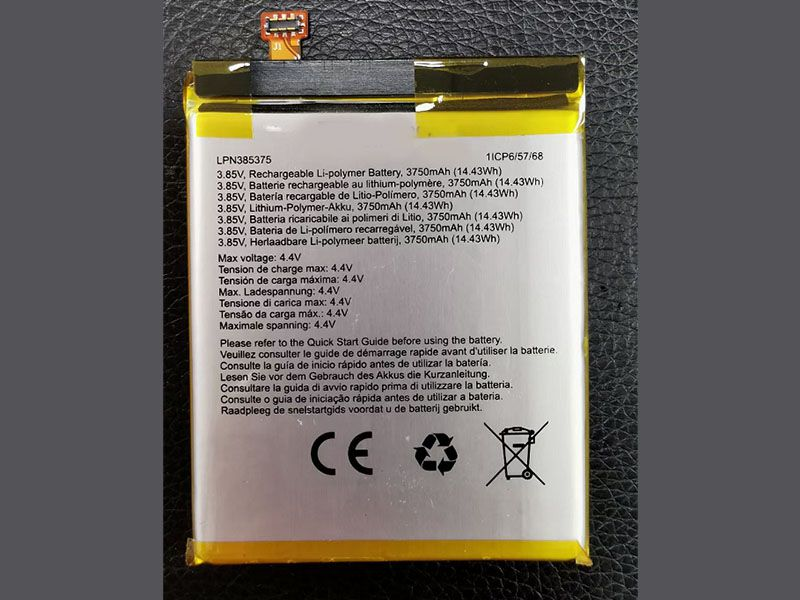 Batterie interne smartphone LPN385375