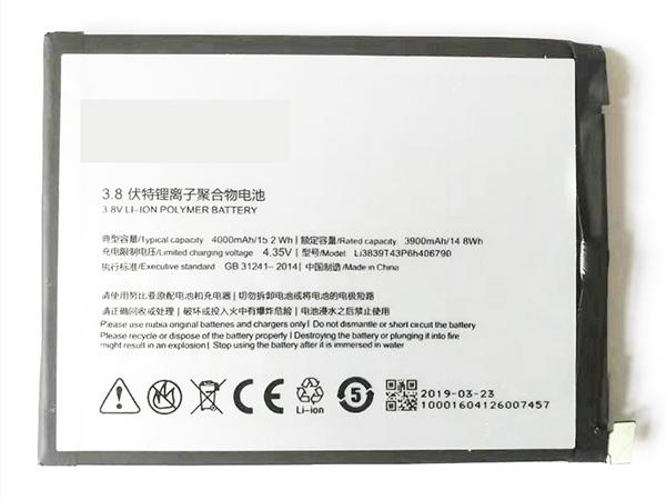 Batterie interne smartphone Li3839T43P6h406790