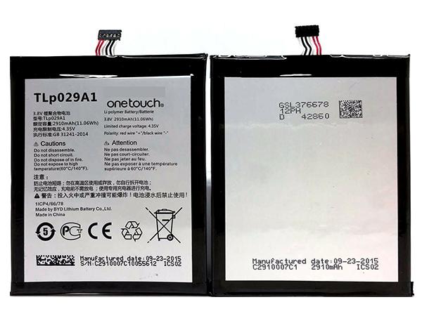 Batterie interne smartphone TLp029A1