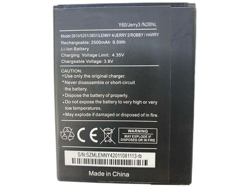 Batterie interne smartphone Y60/Jerry3/N2BNL