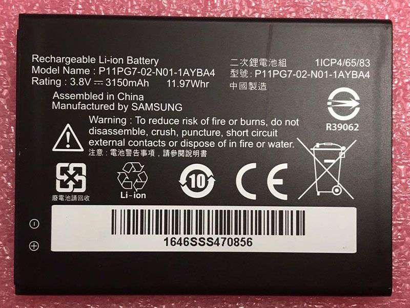 Batterie interne smartphone P11PG7-02-N01-1AYBA4