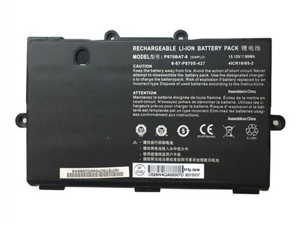 Batterie ordinateur portable P870BAT-8
