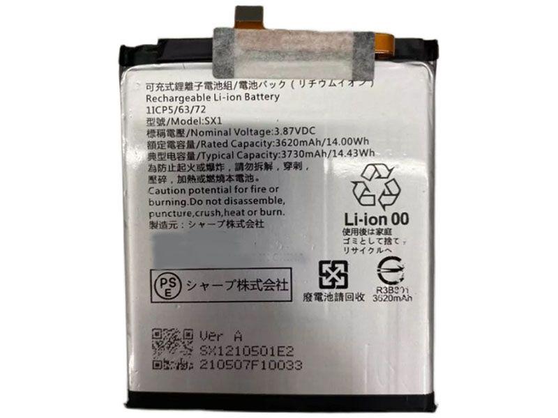 Batterie interne smartphone SX1