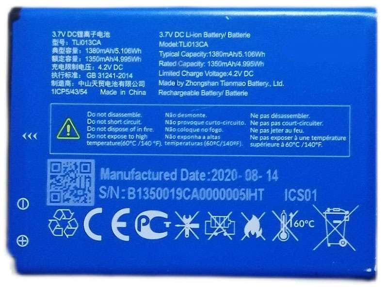 Batterie interne smartphone TLI013CA
