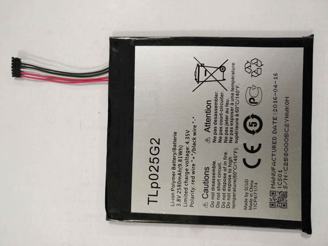 Batterie interne smartphone TLp025G2