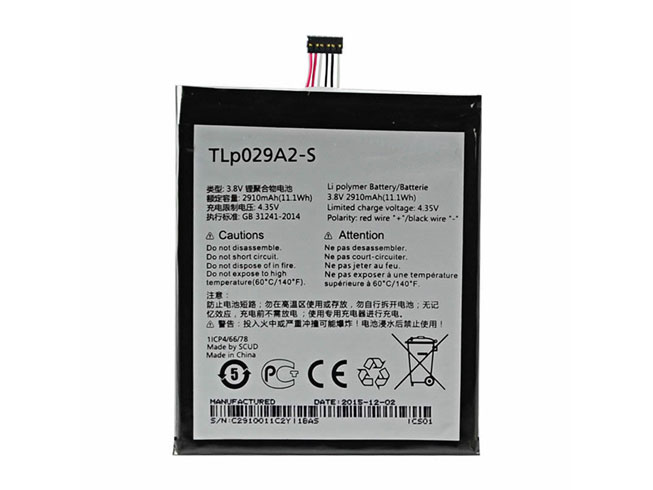 Batterie interne smartphone TLP029A2-S