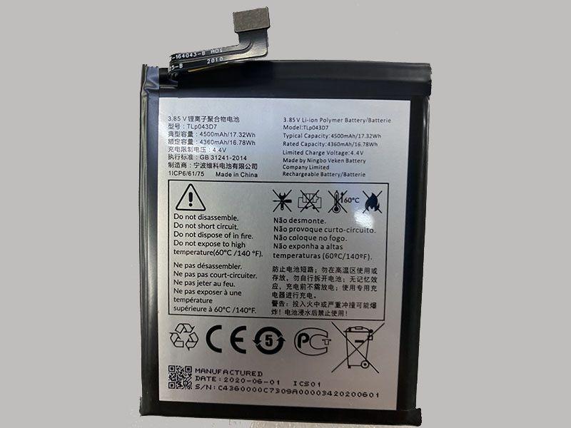 Batterie interne smartphone TLP043D7