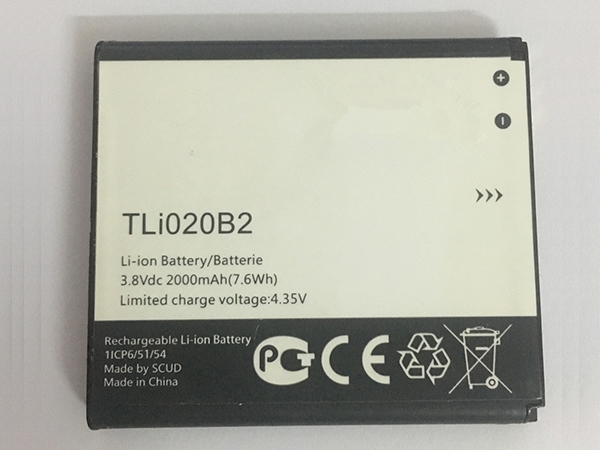 Batterie interne smartphone TLi020B2
