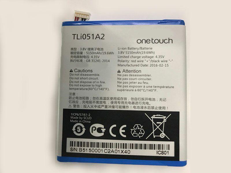 Batterie interne smartphone TLi051A2