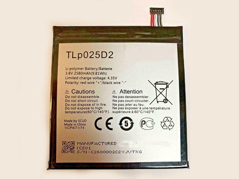 Batterie interne smartphone TLp025D2