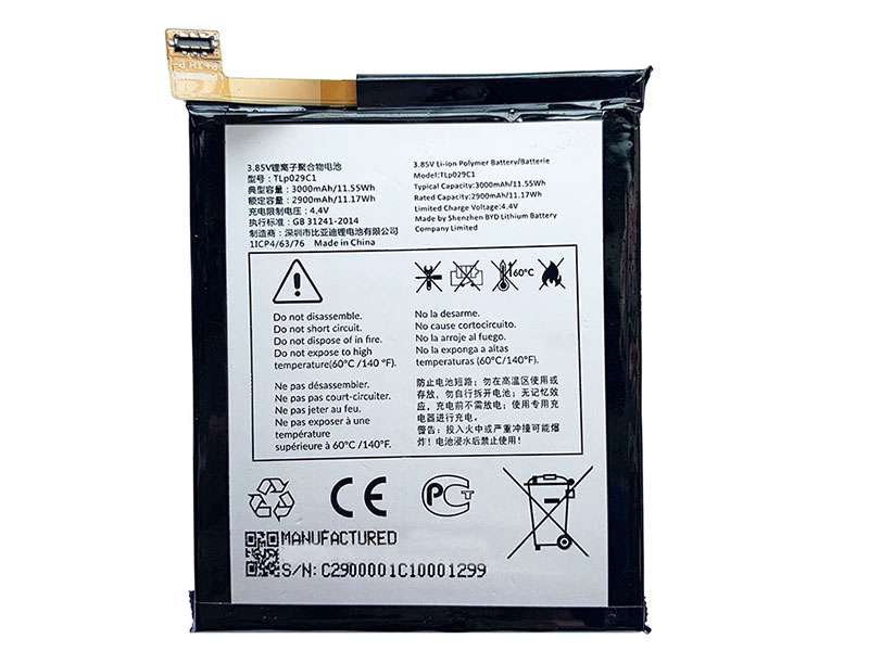 Batterie interne smartphone TLp029C1