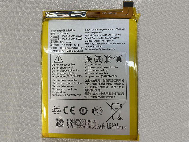 Batterie interne smartphone TLp030KA