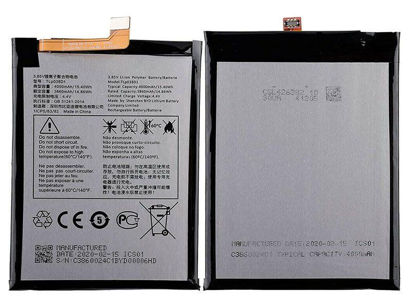 Batterie interne smartphone TLp038D1