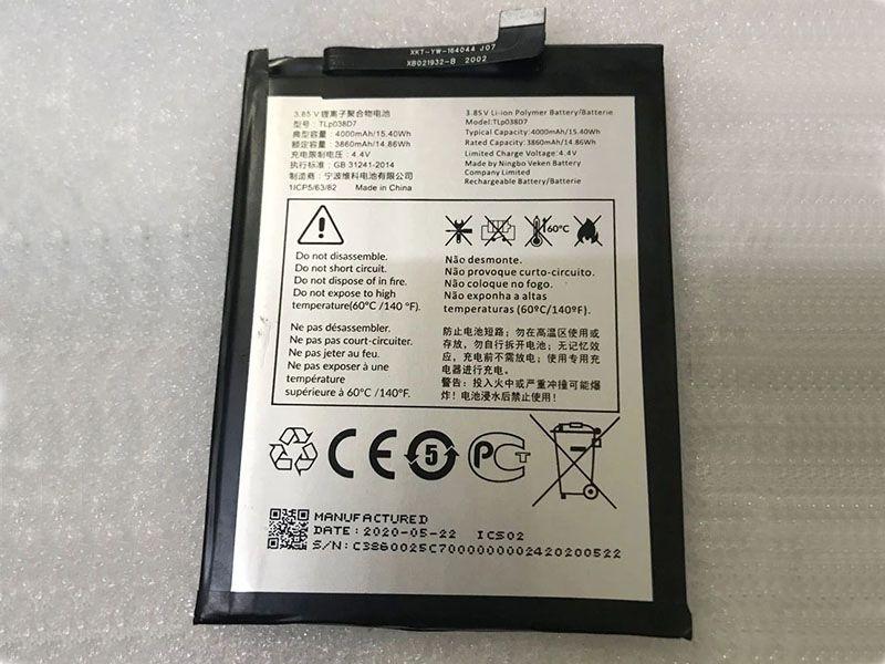Batterie interne smartphone TLp038D7