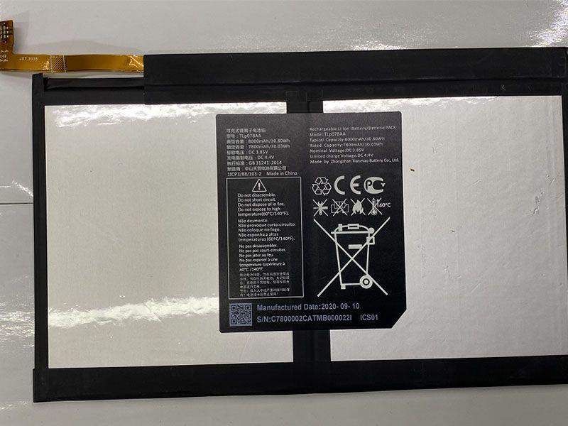 Batterie interne tablette TLp078AA