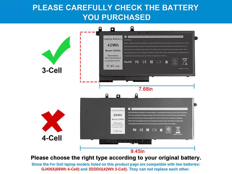 Batterie ordinateur portable 3DDDG