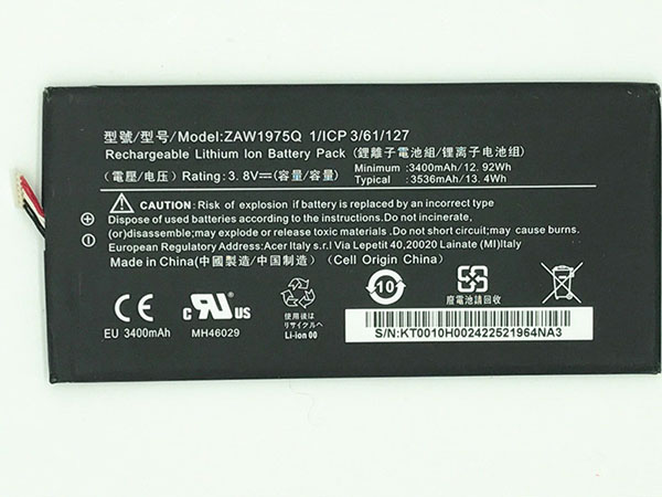 Batterie interne tablette ZAW1975Q