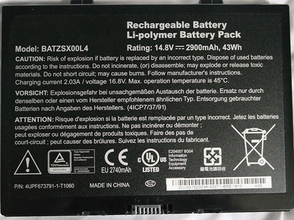 Batterie ordinateur portable BATZSX00L4