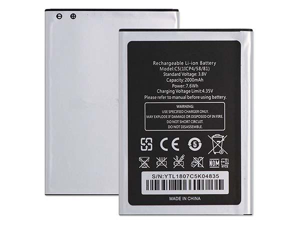 Batterie interne smartphone C5(1ICP4/58/81)