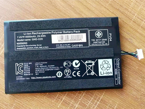Batterie interne tablette GND-D20