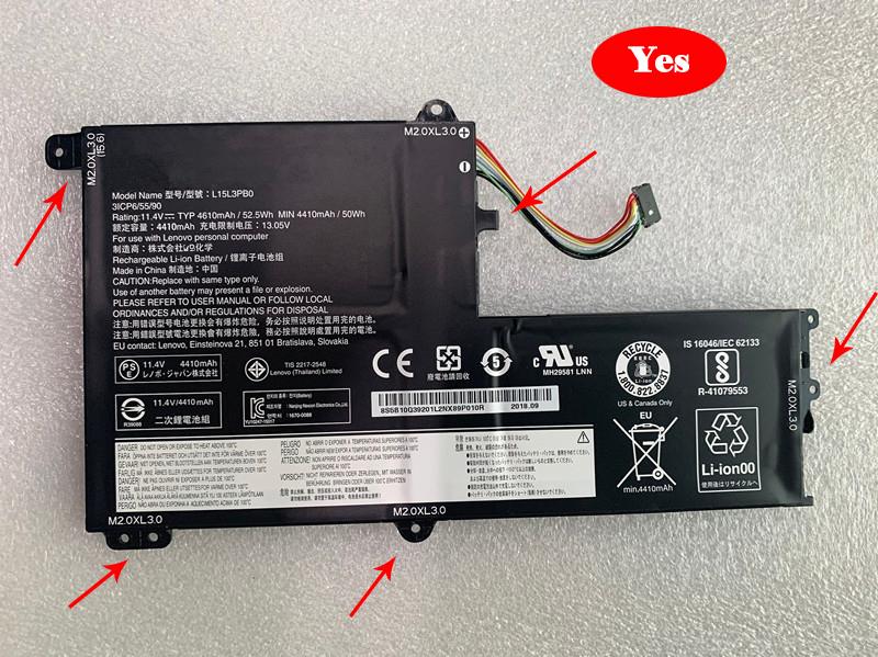 Batterie ordinateur portable L15M3PB0