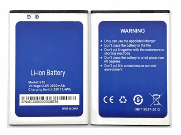 Batterie interne smartphone S16
