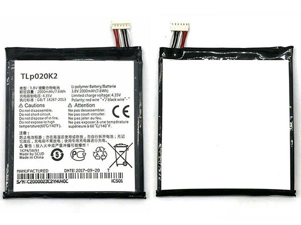 Batterie interne smartphone TLp020K2